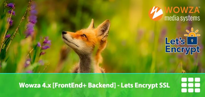 SSL Letsencrypt on Wowza 4 x Server - Frontend + Backend